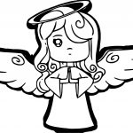 Blonde Angel Coloring Page
