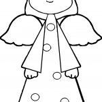 Blonde Angel Coloring Pages