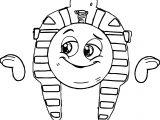 Cartoon Eygpt Face Figure Coloring Page
