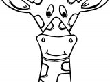 Cartoon Giraffe Face Coloring Page