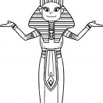 Cartoon Woman Ancient Eygpt Coloring Page