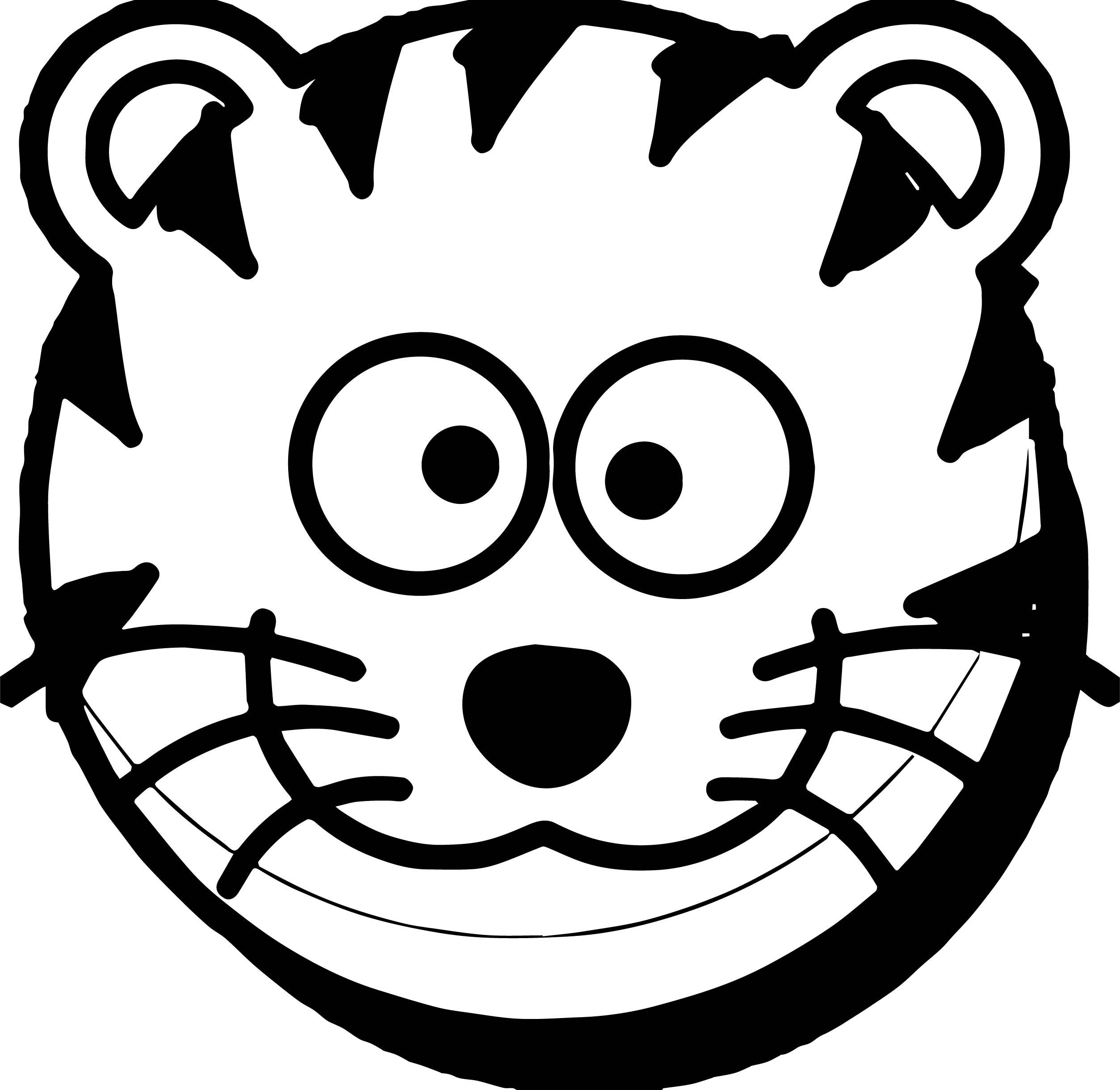 Uncategorized Cat Face Coloring Page cat face tiger coloring page wecoloringpage page