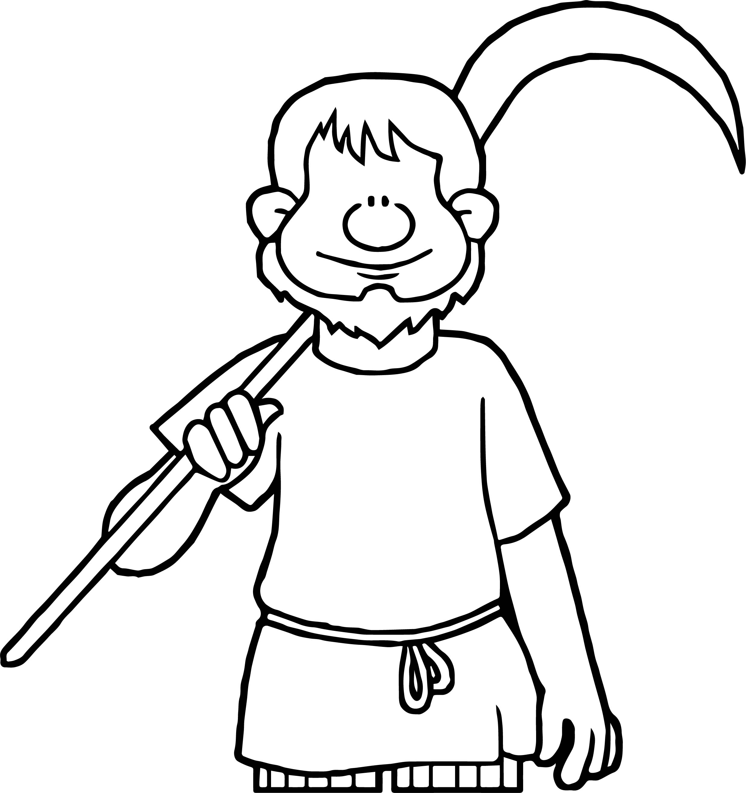 Celts Farmer Coloring Page