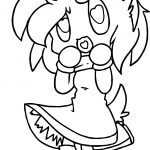 Chibi Amy Rose Coloring Page