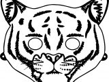 Child's Printable Tiger Mask Coloring Page
