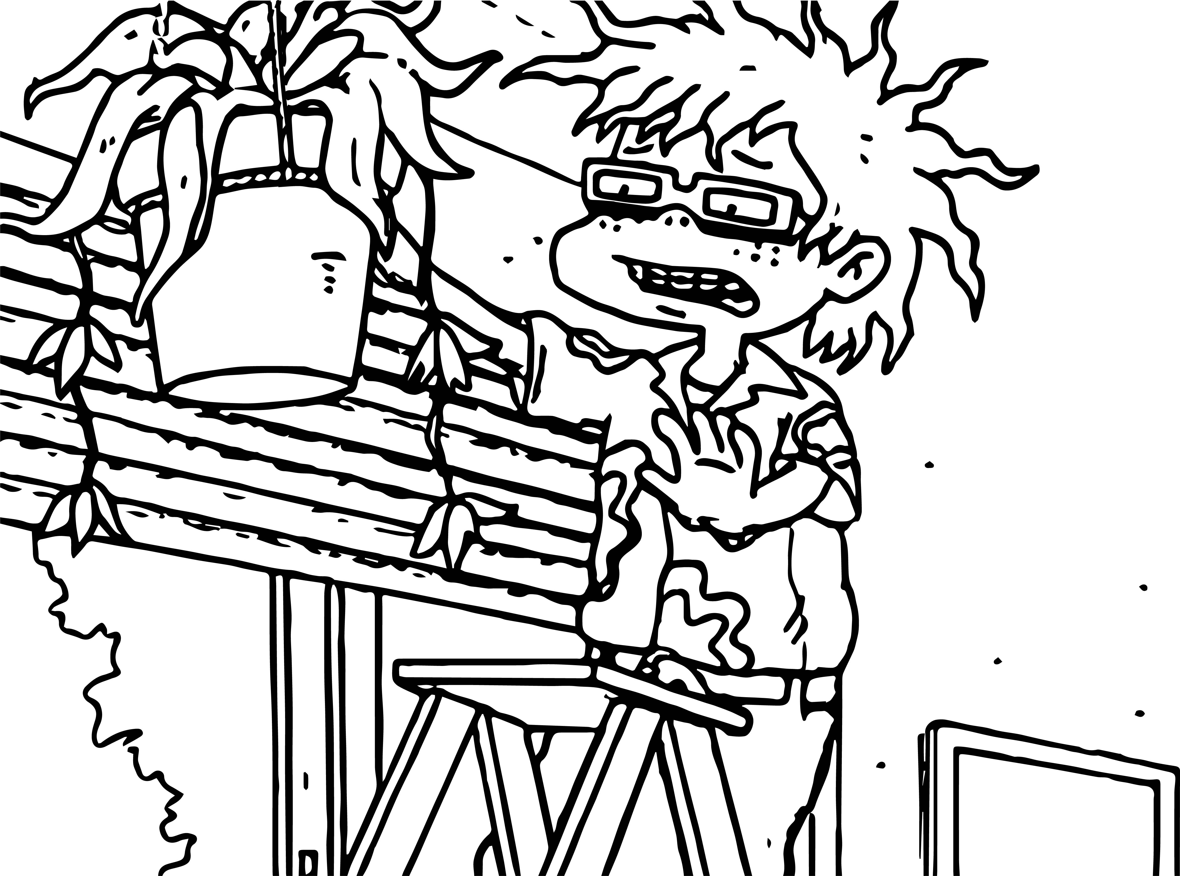 Chuckie Rugrats All Grown Up Flower Coloring Page