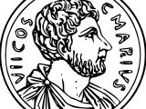 Coin Roman Money Cash Gold Historic Ancient Rome Coloring Page