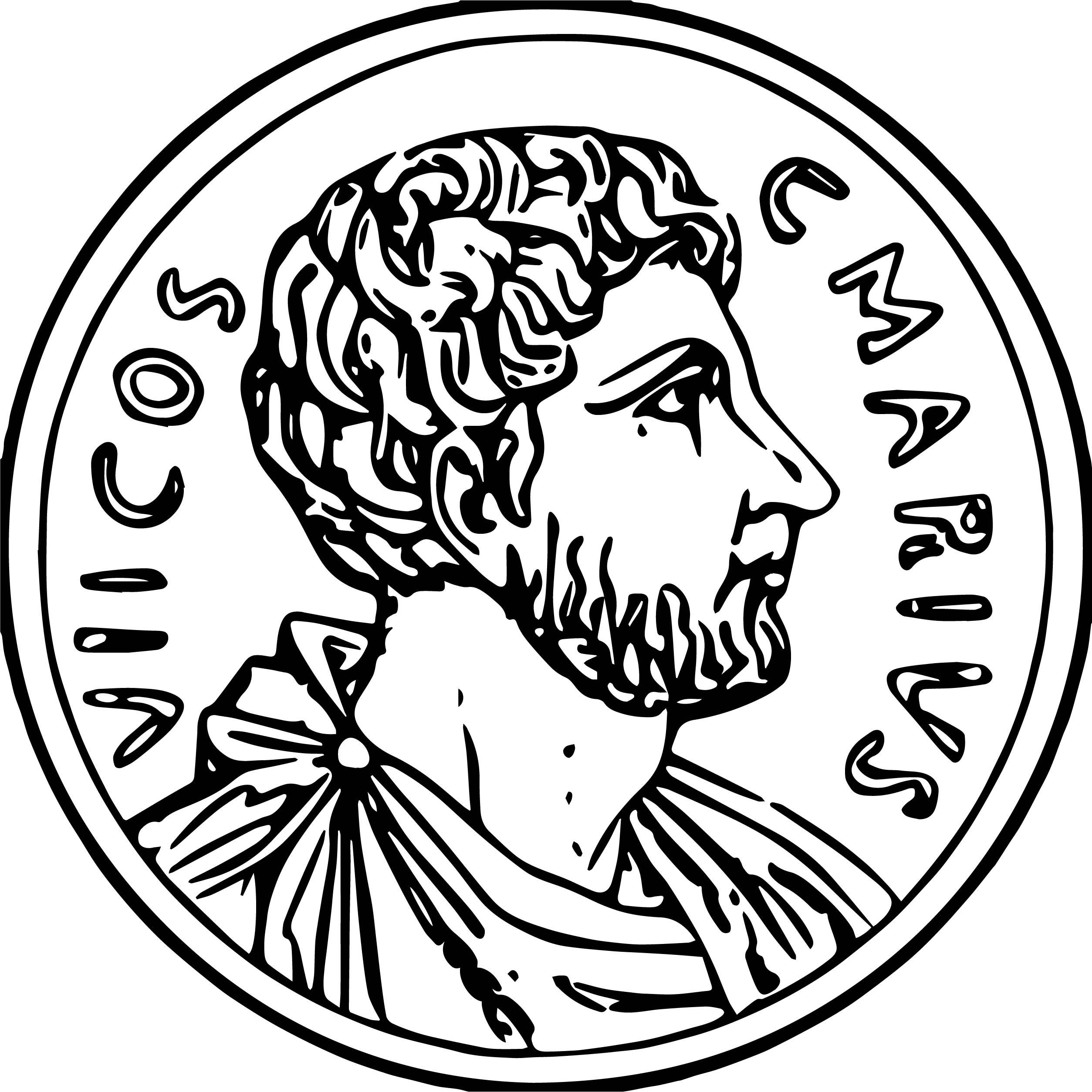 Coin Roman Money Cash Gold Historic Ancient Rome Coloring Page