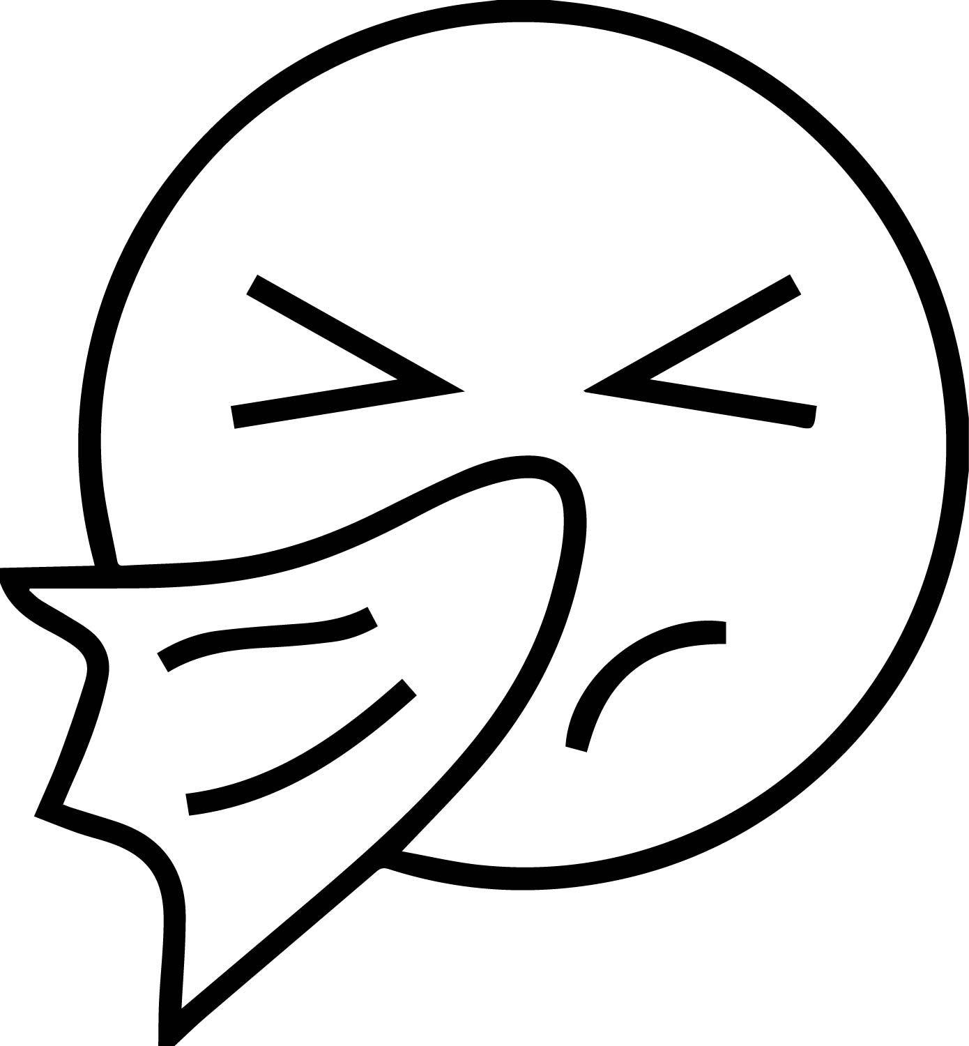 Cold Emoticon Emology Face Coloring Page