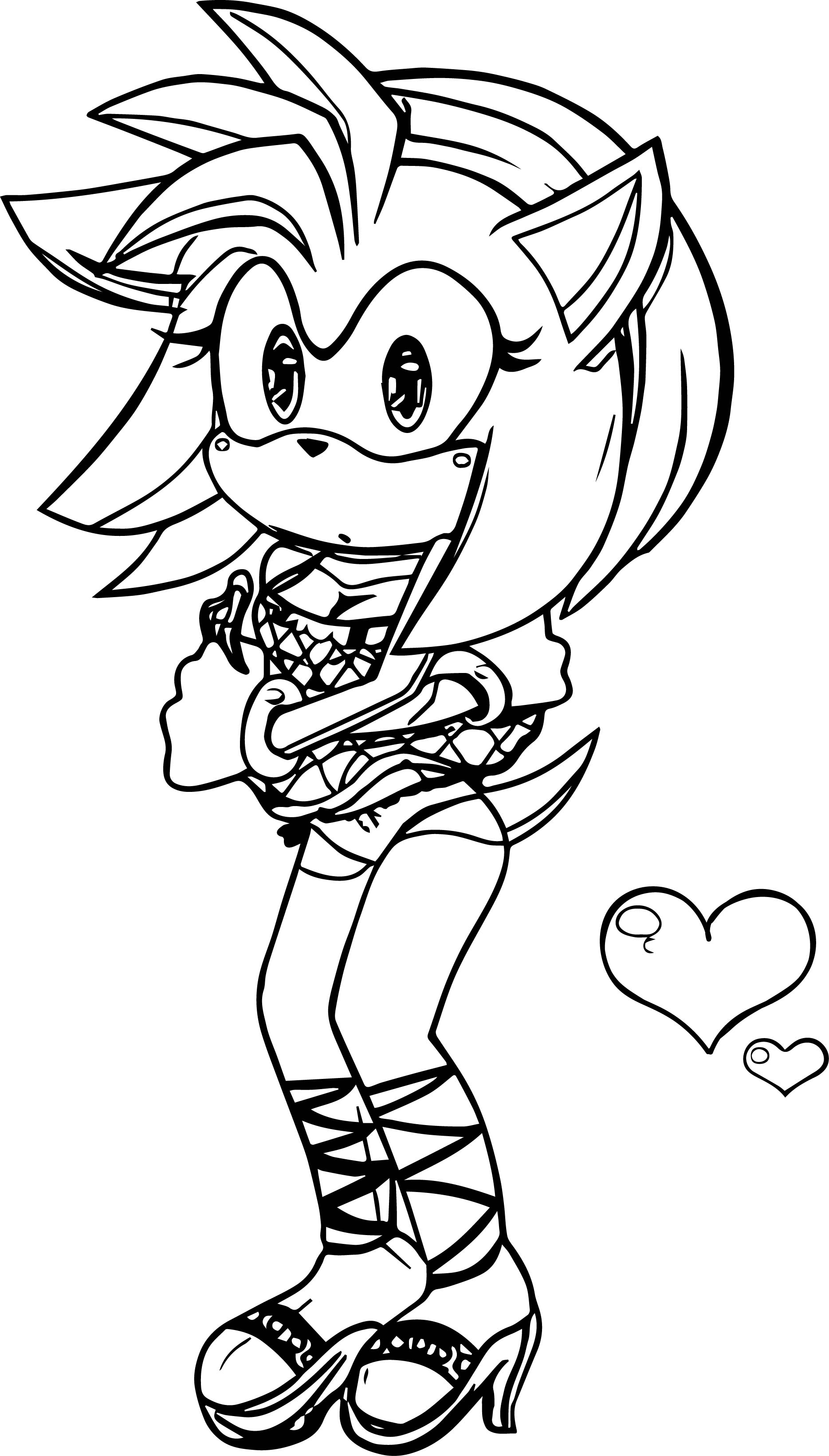 cold weather amy rose coloring page wecoloringpage