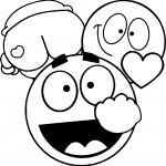 Comic Emoticons Face Coloring Page