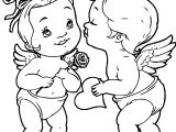 Cupid Angels Coloring Page