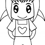 Cute Anime Girl Easy Coloring Page