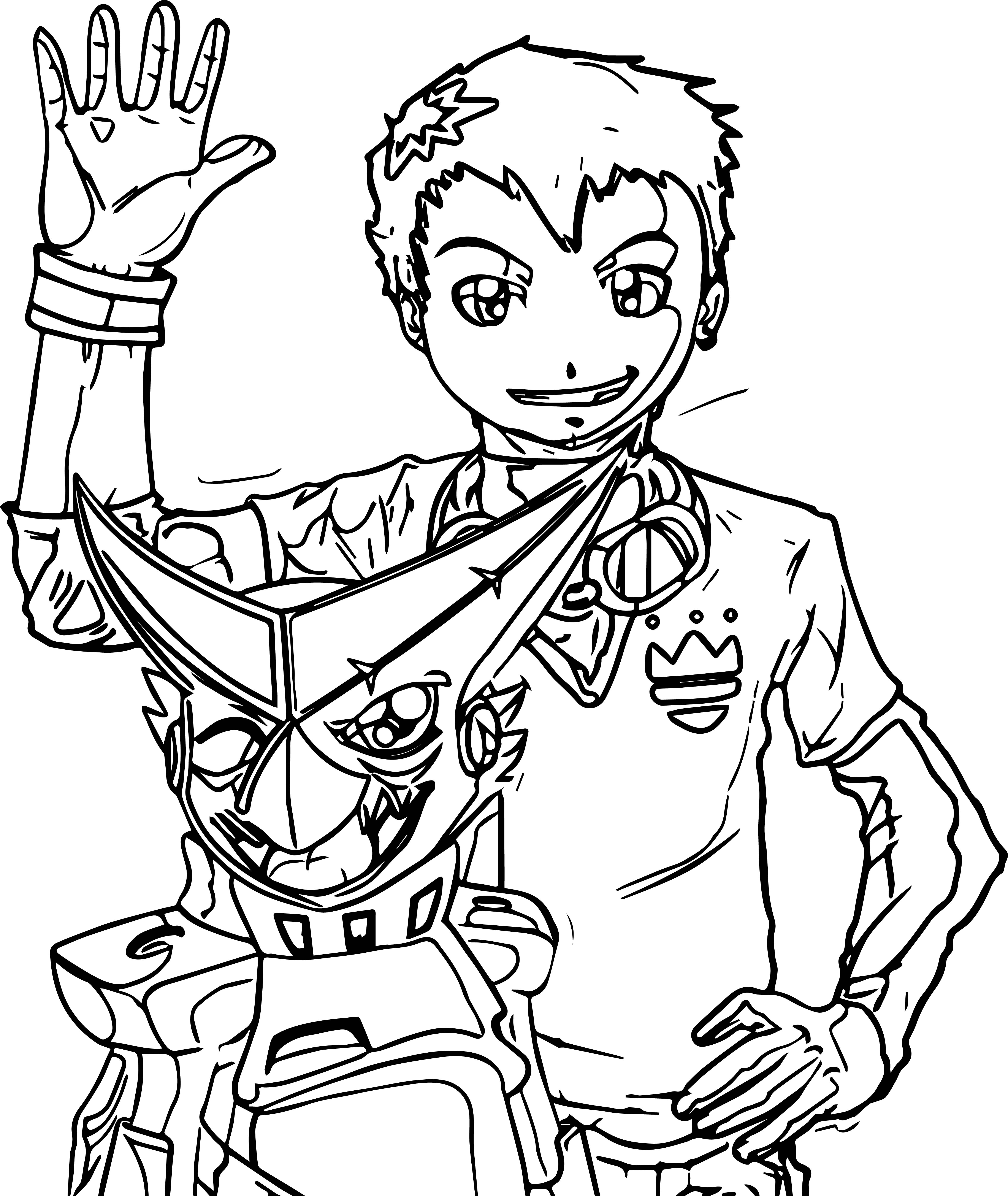 dgmn taiki all grown up and shoutmon color coloring page
