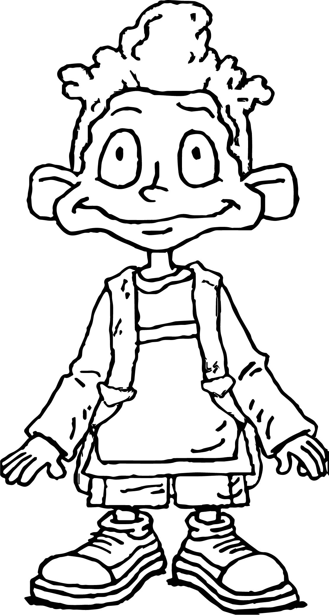 Dil Pickles Rugrats All Grown Up Coloring Page
