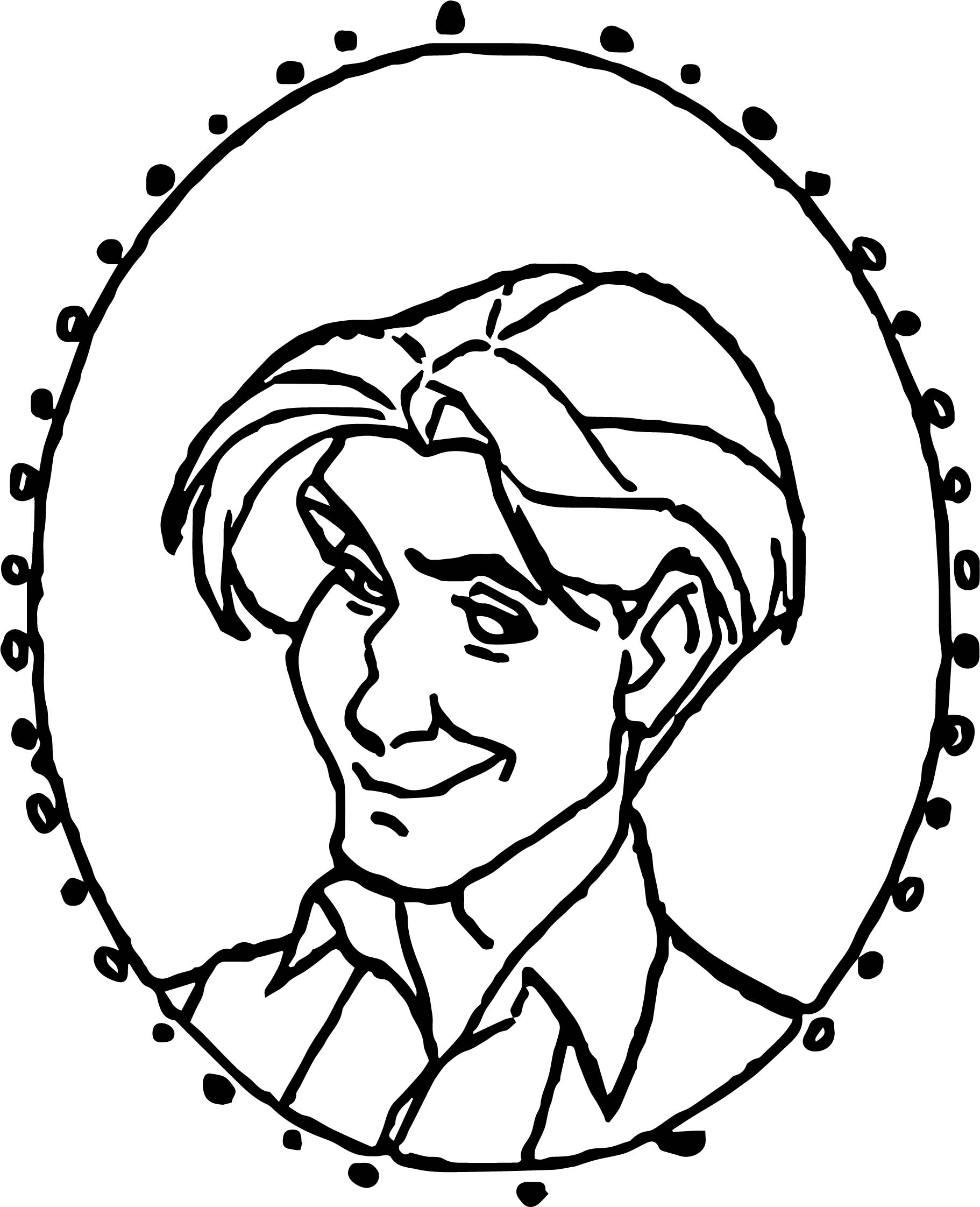 Dimitri Image Circle Coloring Page