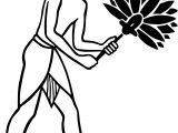 Egiptian Slave With Fan On White Stock Egypt Egyptian Ancient Coloring Page