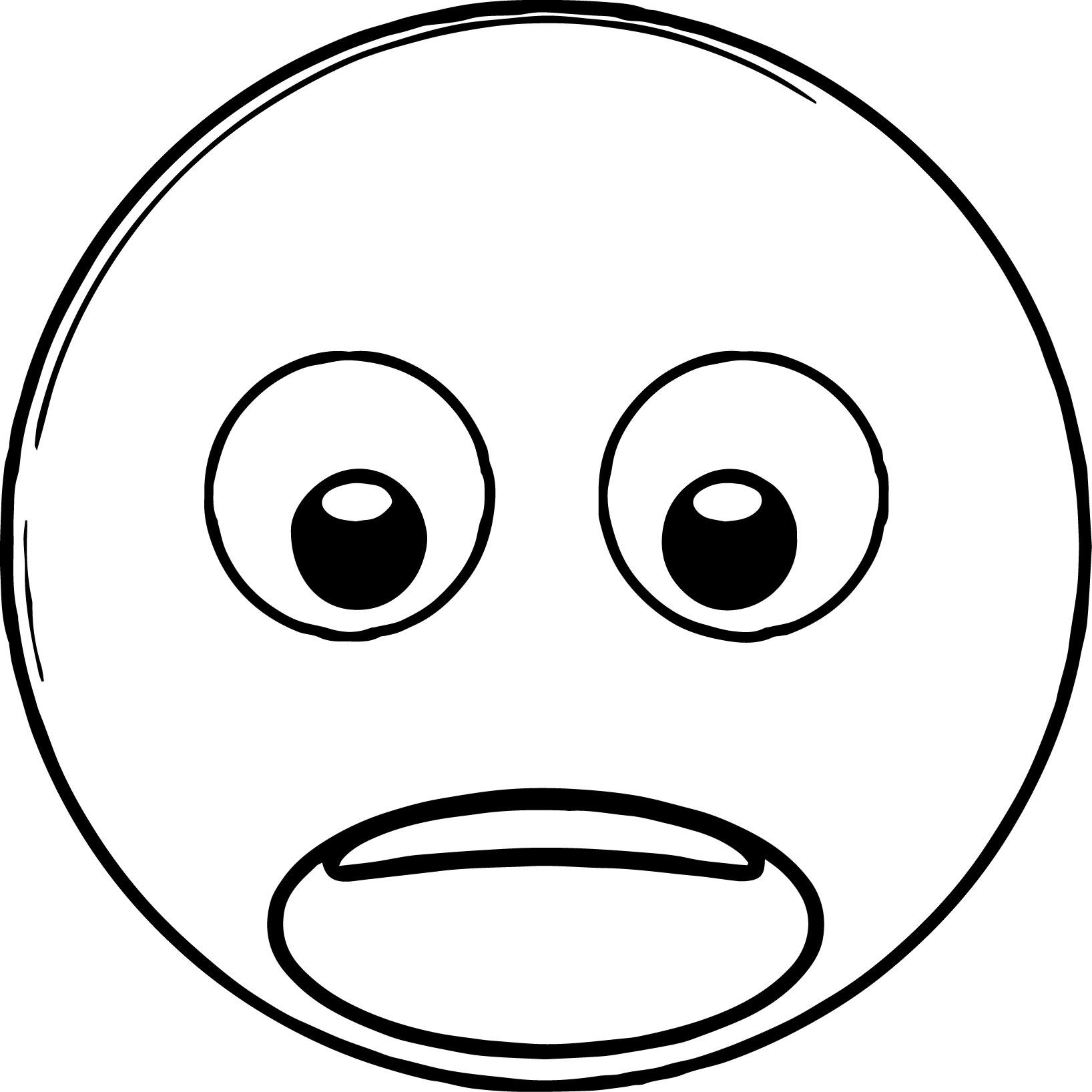 emoticon shock looking down coloring page wecoloringpagecom