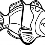 Fish Animal Kingdom Sea Animal Coloring Page