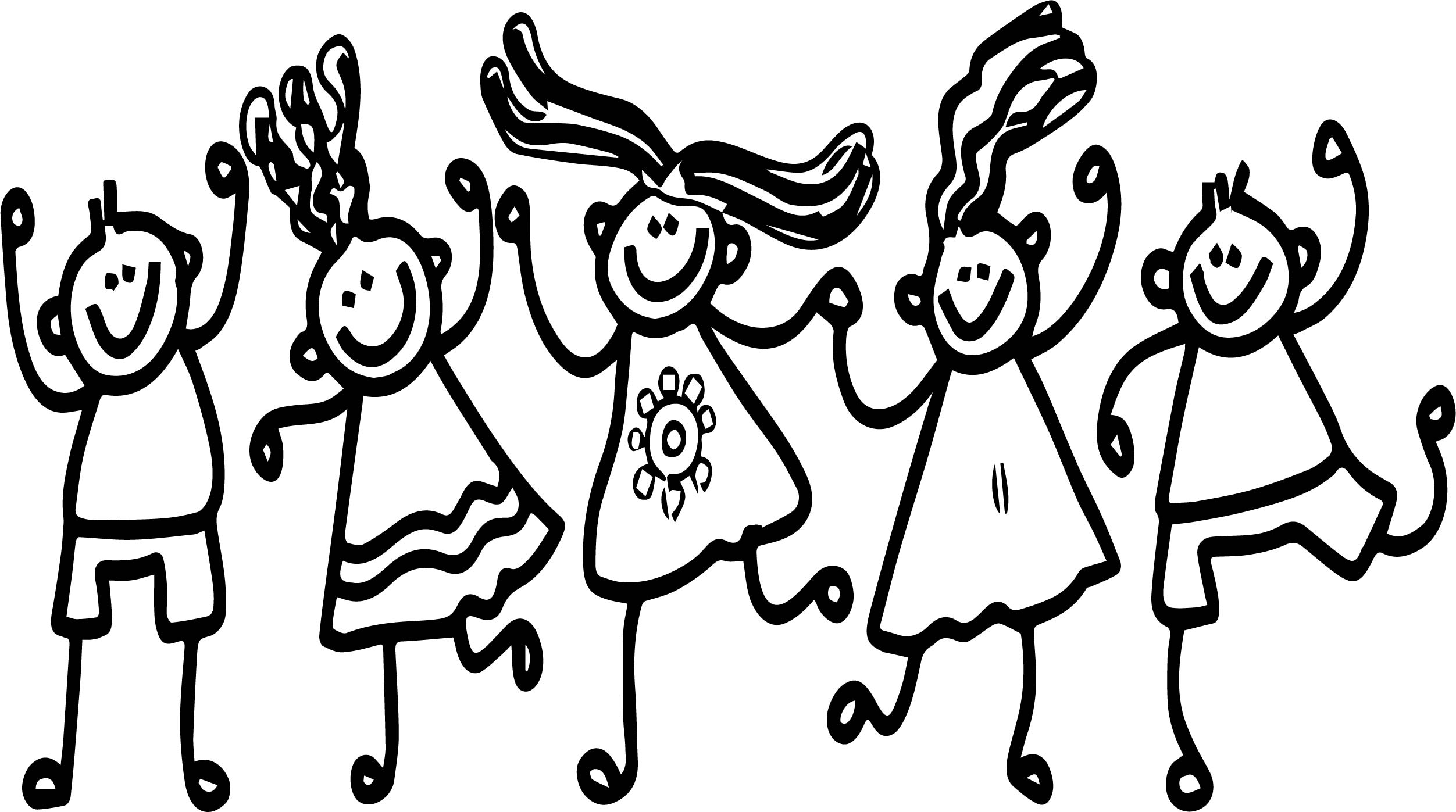 five best friends coloring pages wecoloringpage