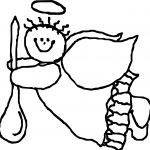 Flying Angel Coloring Page