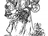 Free Vintage Angel Girl Angel Coloring Page