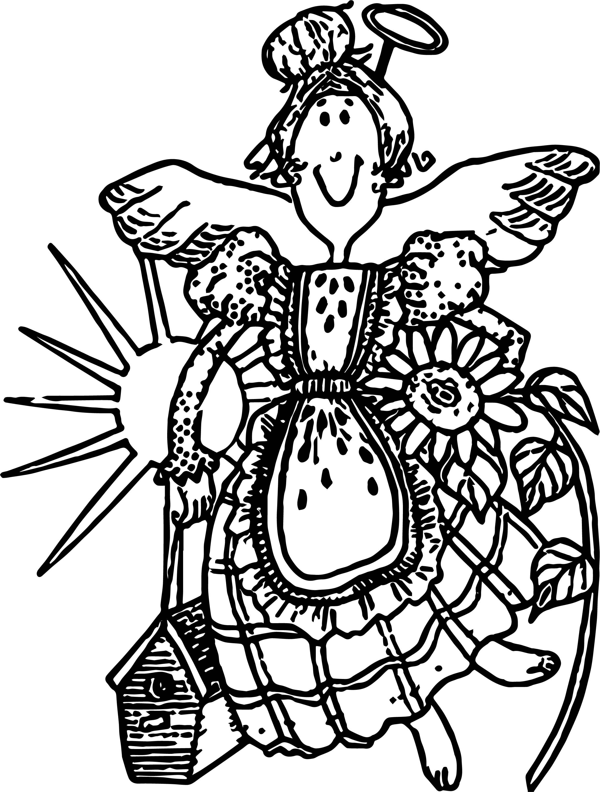 Garden angel coloring page for Coloring page angel