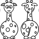 Giraffe All Side Coloring Page