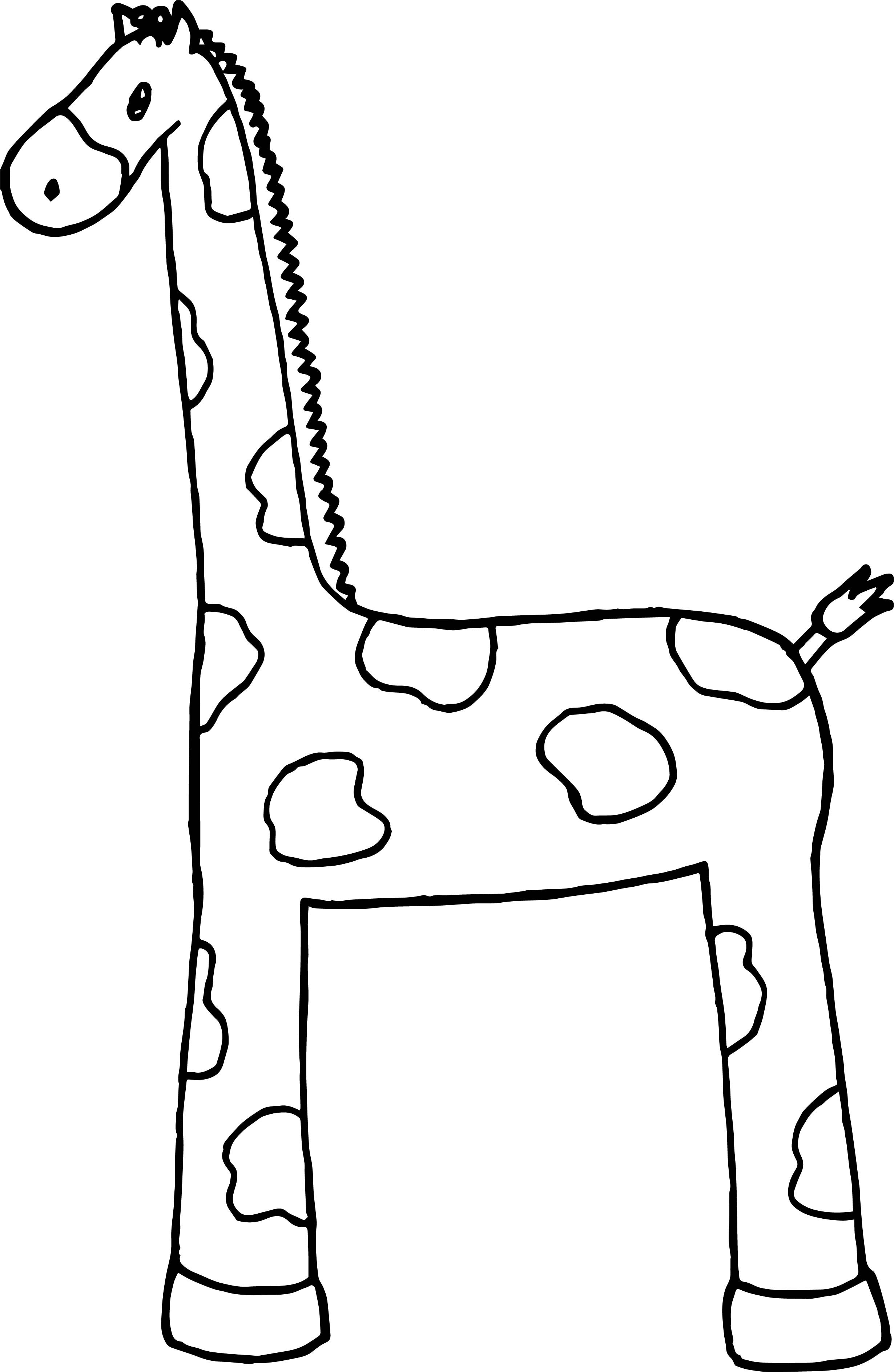 Giraffe Basic Coloring Page
