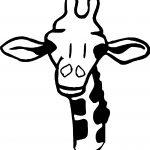 Giraffe Big Head Face Coloring Page
