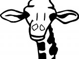 Giraffe Big Head Face Coloring Page