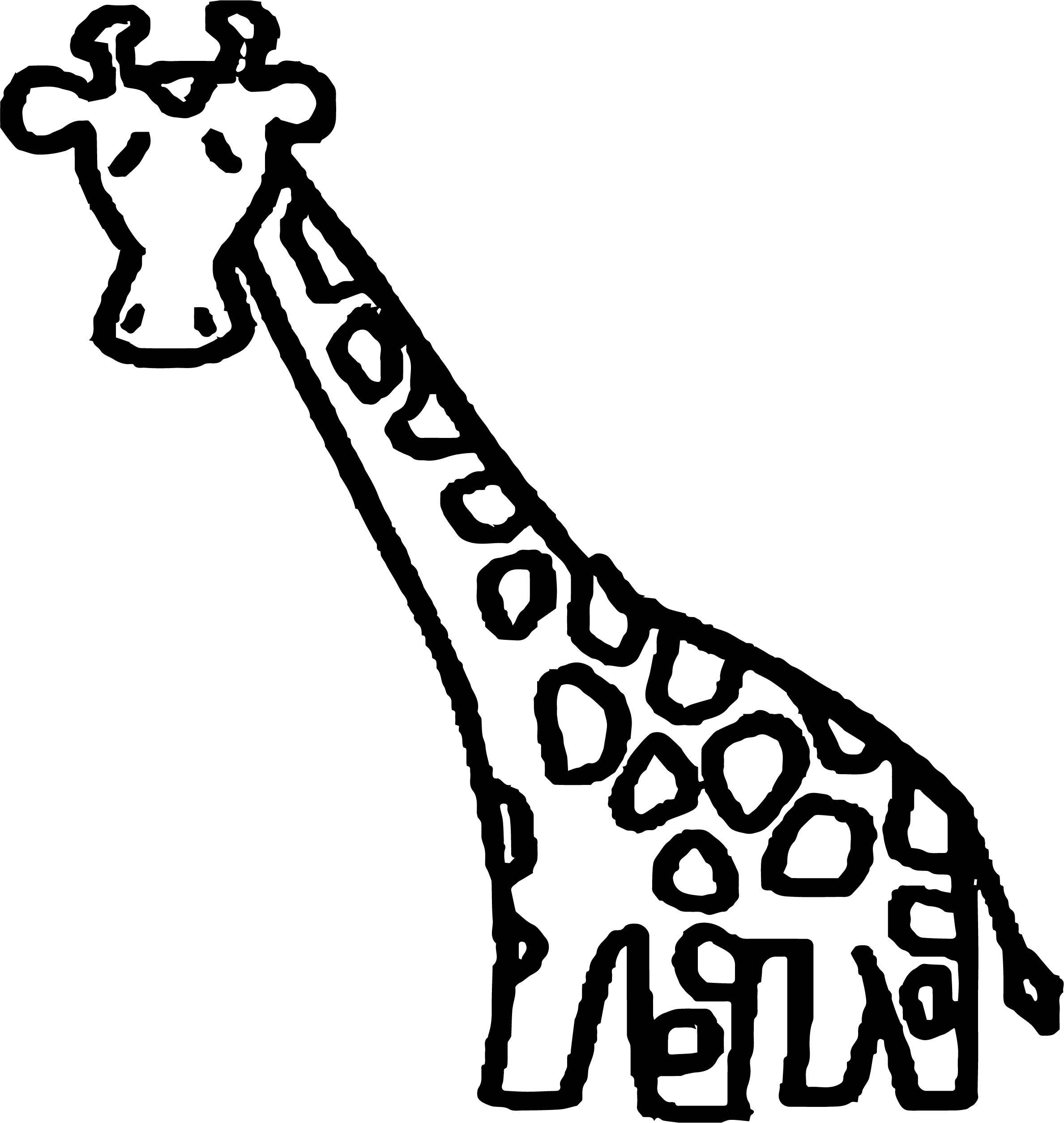 Giraffe Cold Coloring Page