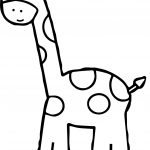 Giraffe Cute Small Kids Free Printable Preschool Coloring Page