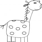 Giraffe English Kids Coloring Page