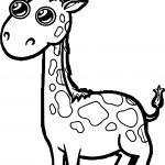 Giraffe Eye Shine Coloring Page