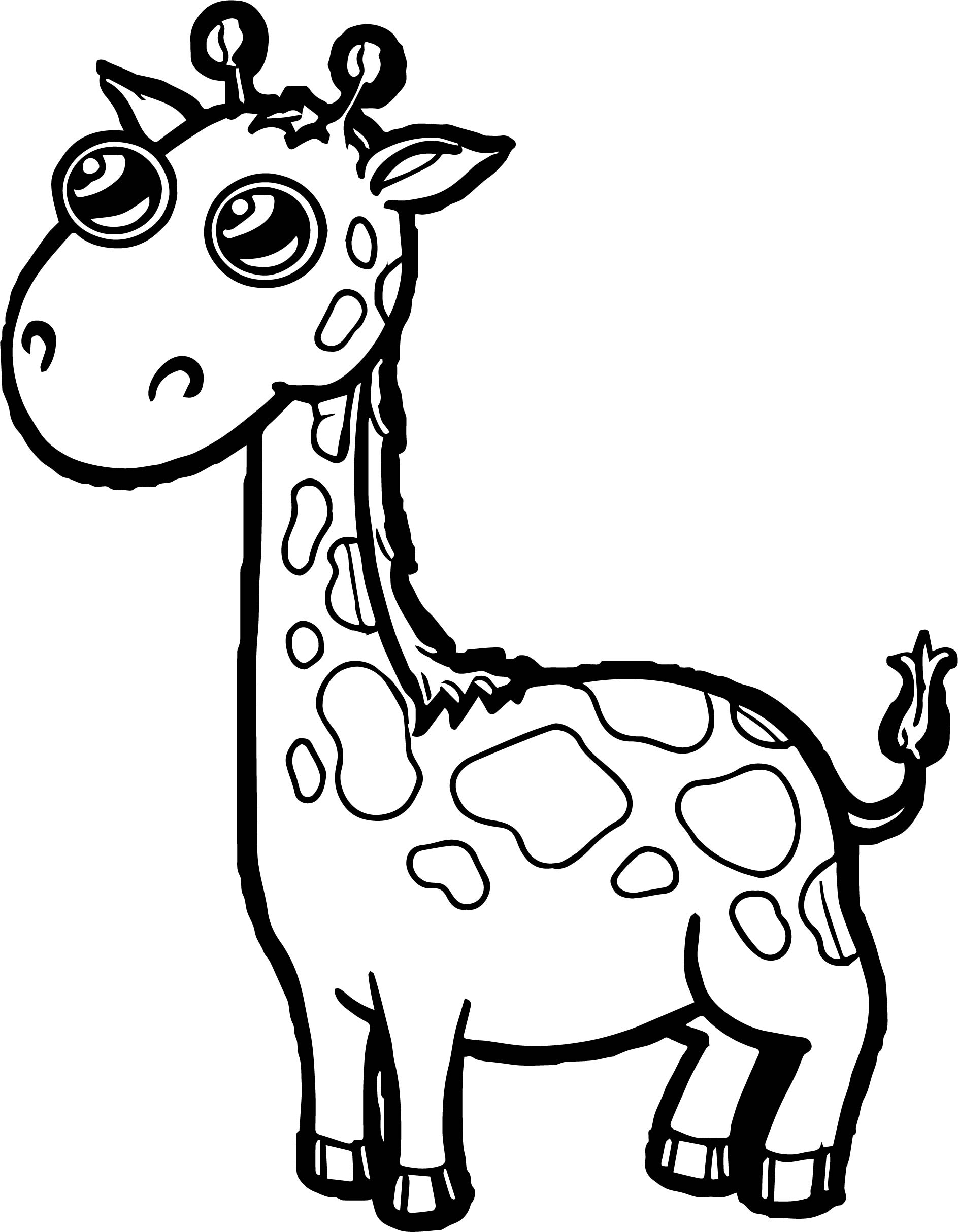Giraffe Eye Shine Coloring Page