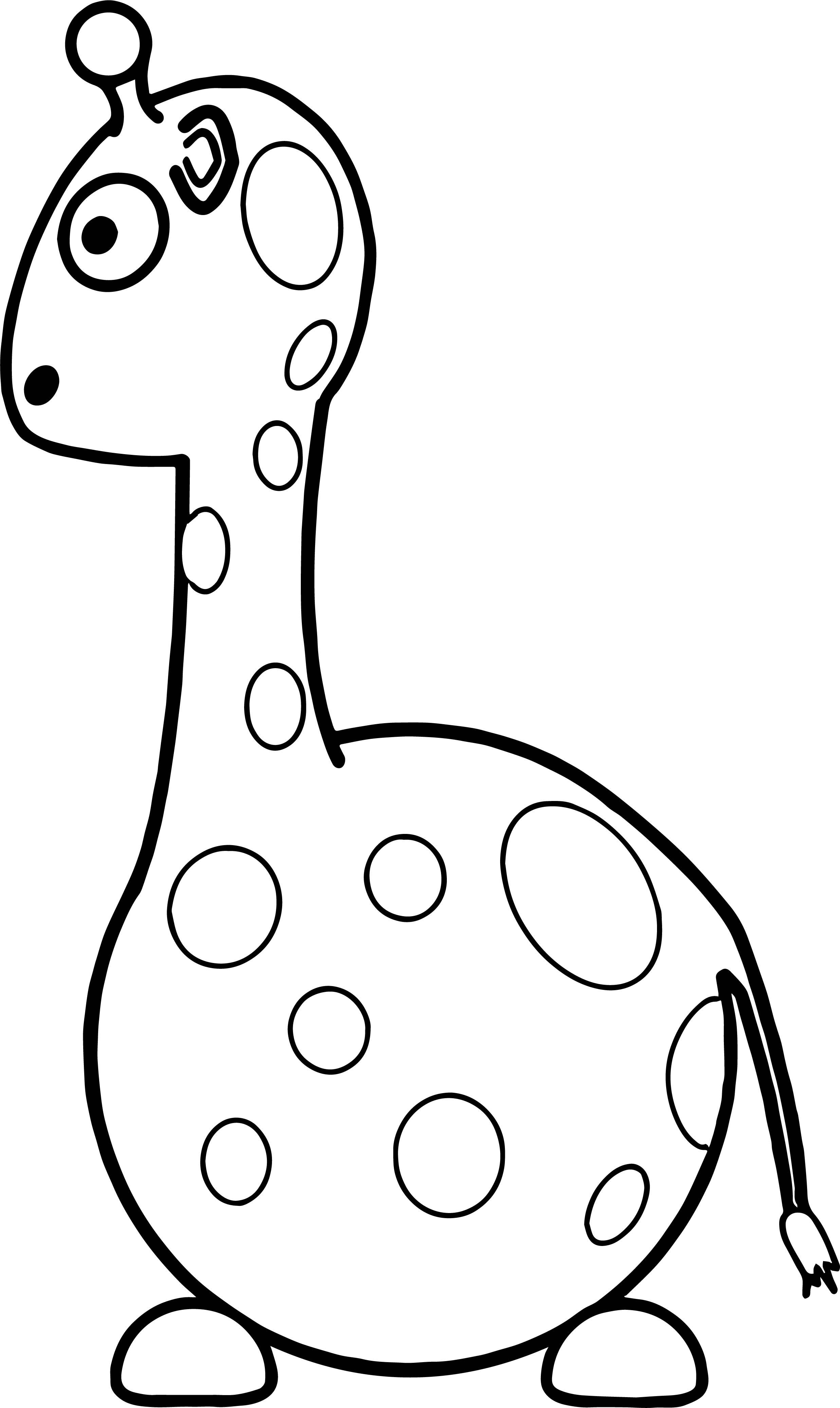 Giraffe Fat Coloring Page