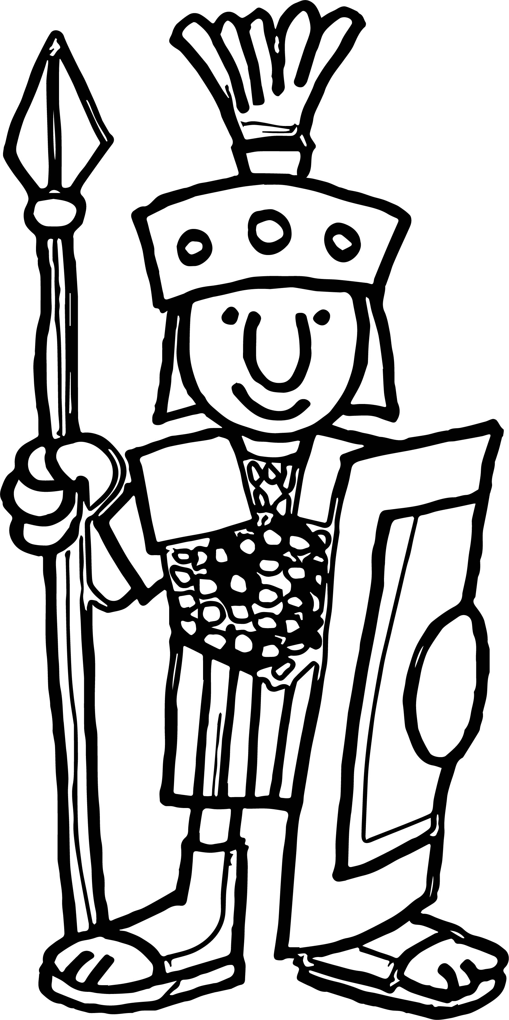 Go Back Gt Gallery For Cartoon Roman Soldier Coloring Page