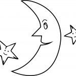 Half Moon Stars Coloringpage