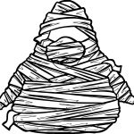 Halloween Mummy Pictures Coloring Page