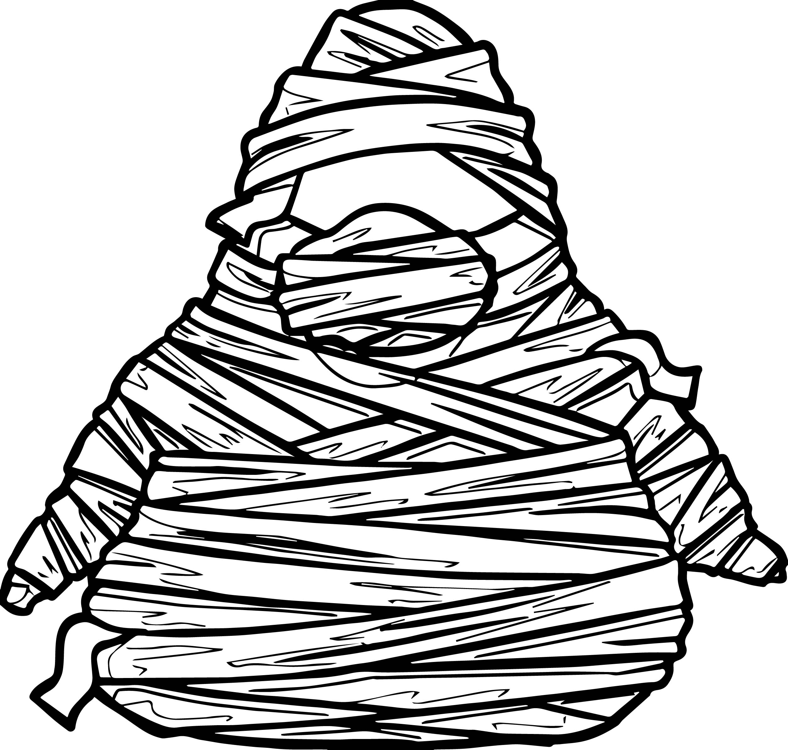 Halloween mummy pictures coloring page for Mummy coloring page