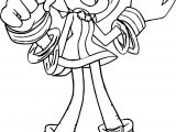 Happy Amy Rose Dance Coloring Page