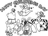Happy Childrens Day Animal Kingdom Graphic For Share On Facebook Coloring Page