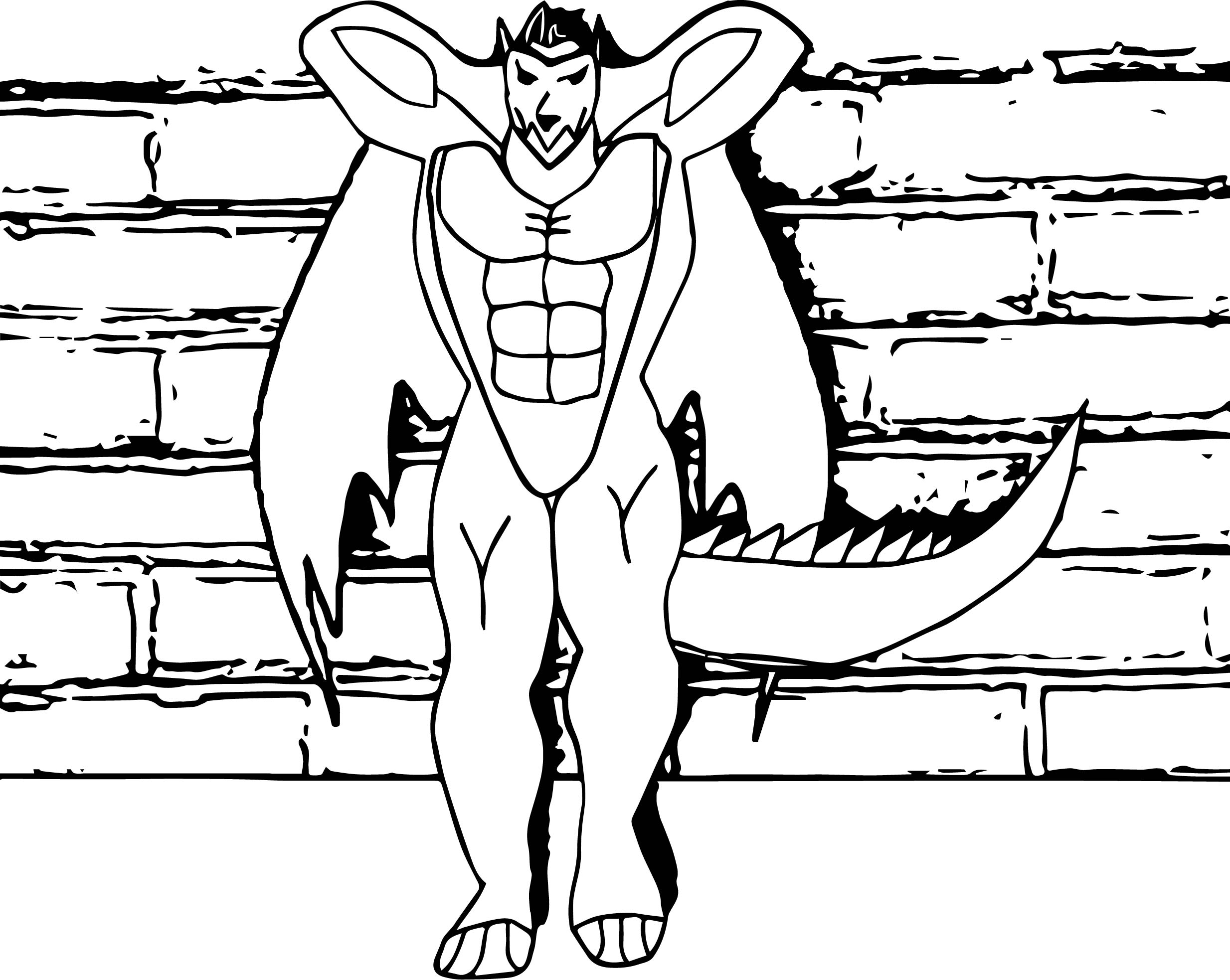 Have A Rest On Wall American Dragon Jake Long Coloring Page