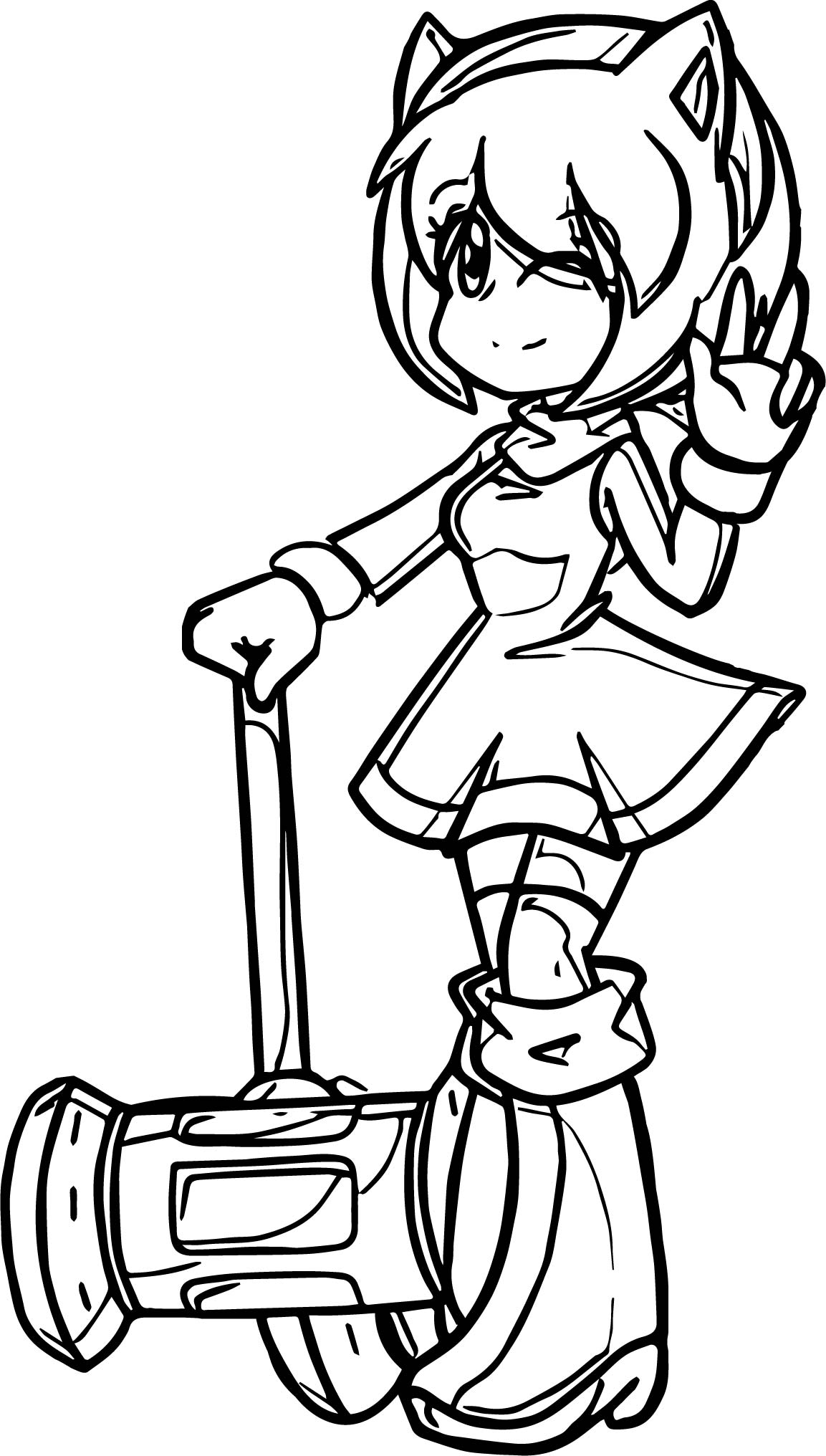 Helpful Amy Rose Coloring Page