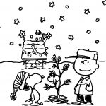 Holidays Charlie Brown Peanuts Comics Snoopy Christmas Coloring Page