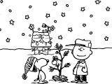 Holidays Charlie Brown Peanuts Comics Snoopy Christmas Coloring Page