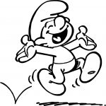 Hopping Smurfs Coloring Page