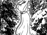 How To Draw Anastasia In Snow Coloring Page