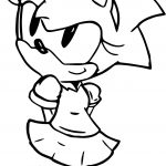 I Am Cute Amy Rose Coloring Page